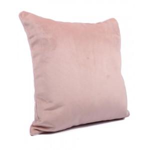 Fata de perna 40x40cm Chicago, catifea, roz prafuit